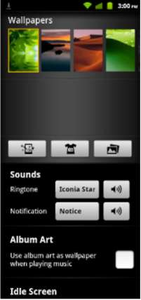 Adding or removing shortcuts or widgets ICONIA SMART S300