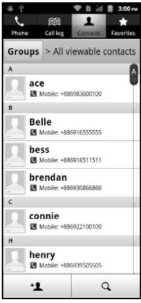 Managing your contacts ICONIA SMART S300