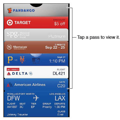 Passbook lets you organize iPhone 5