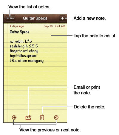 notes iPhone 5