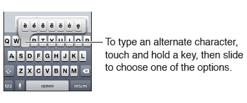 Set options for typing