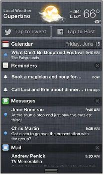 View Notification Center