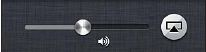 AirPlay and volume controls