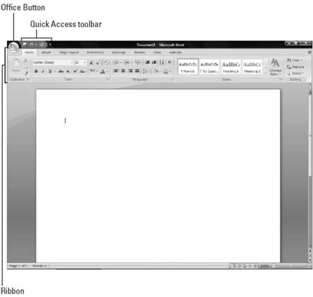 Getting to Know the New User Interface Microsoft Office 2007