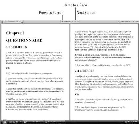 Using Full Screen Reading view Microsoft Office 2007
