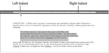 Adjusting left and right paragraph margins Microsoft Office 2007