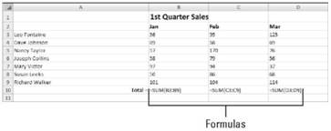 Searching for formulas Microsoft Office 2007