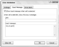 Data Validation Microsoft Excel 2007