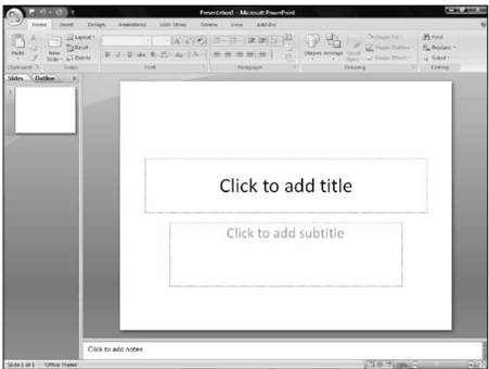 How to create Microsoft PowerPoint 2007 Presentation