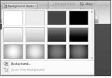 Changing the Background Microsoft PowerPoint 2007