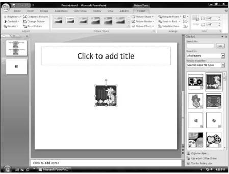 Adding Movies to a Slide Microsoft PowerPoint 2007