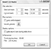 Adding a CD audio track to a presentation Microsoft PowerPoint 2007