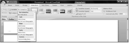 Text transitions Microsoft PowerPoint 2007