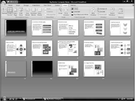 Organizing with Slide Sorter view Microsoft PowerPoint 2007