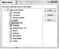 Deleting E-Mail Messages Microsoft Outlook 2007