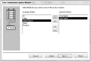 Creating an unmatched query Microsoft Access 2007