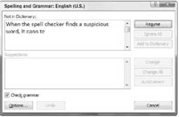 Checking Your Spelling (F7)