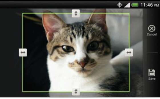 Editing your photos and videos HTC One V