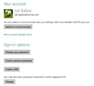 How to change the lock screen background and the picture Windows 8
