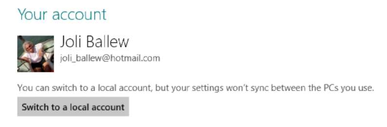 Changing Your User Account Type Windows 8
