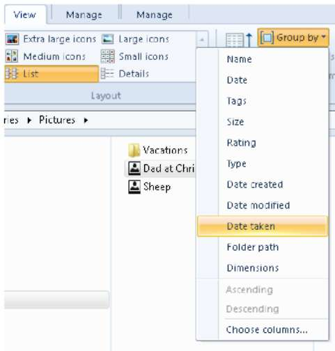 Customizing File Explorer with the View Tab Windows 8