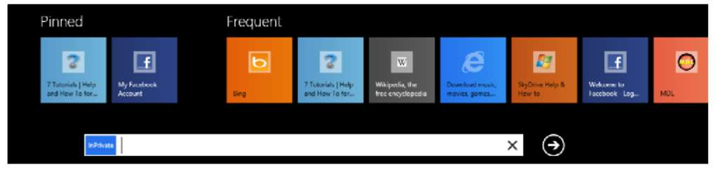 Browsing the Web Using the InPrivate Mode Windows 8