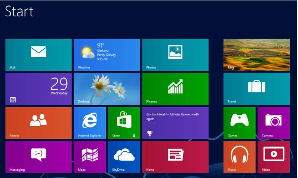 Exploring the other Apps Windows 8