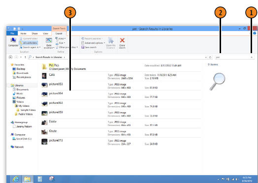 Search for Files and Folders WINDOWS 8