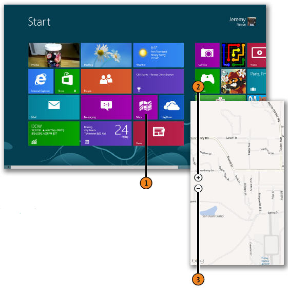Opening and Navigating the Maps App WINDOWS 8
