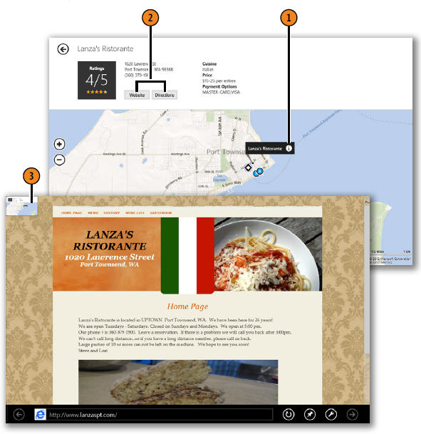 Displaying Information About a Location WINDOWS 8