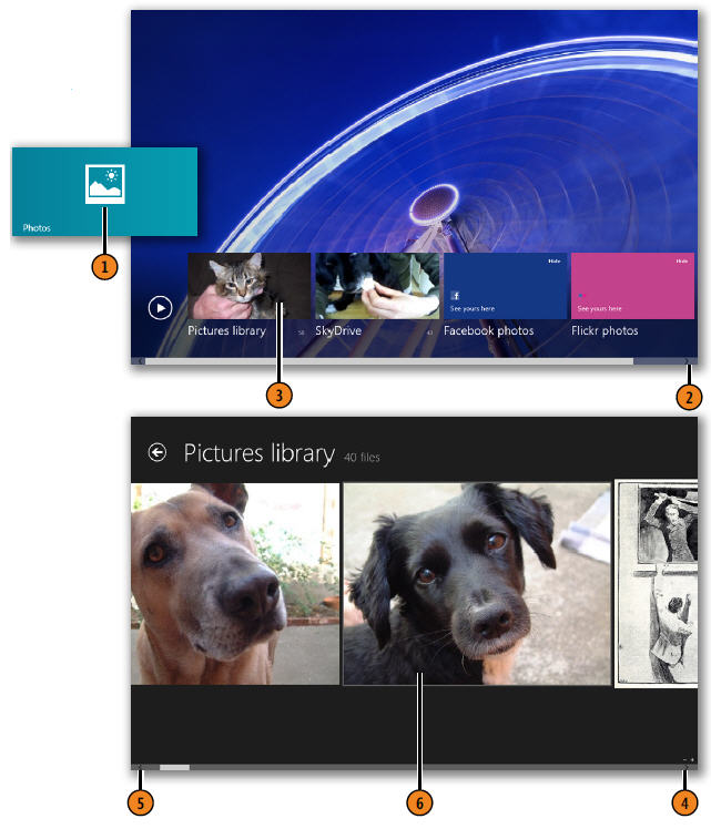 Displaying a Picture Library WINDOWS 8