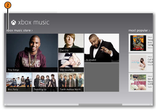 Finding Music to Buy WINDOWS 8