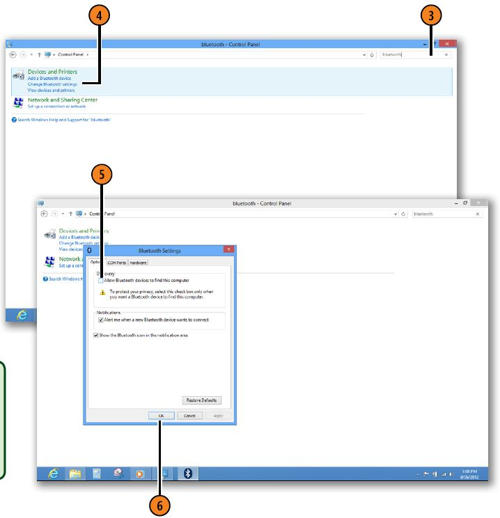 Connecting to Bluetooth Devices WINDOWS 8