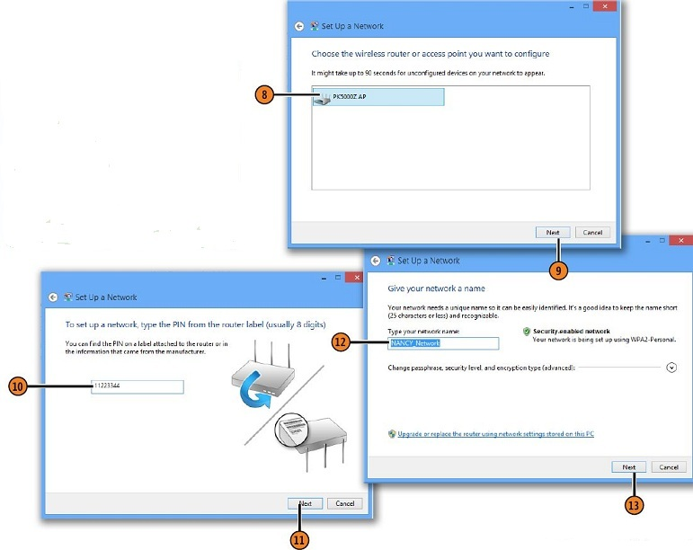 Setting Up a Wireless Network WINDOWS 8