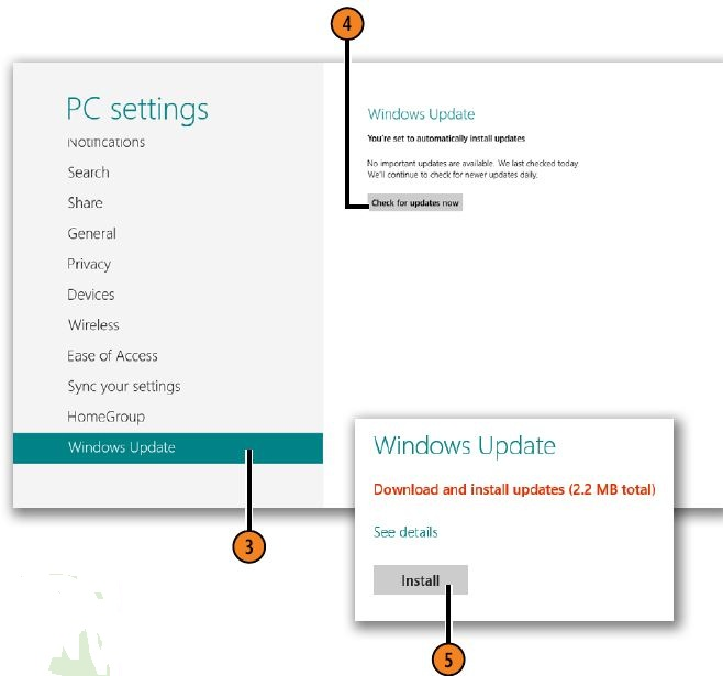 Checking for Updates WINDOWS 8