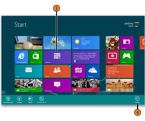 Right-Clicking to Display Tools WINDOWS 8