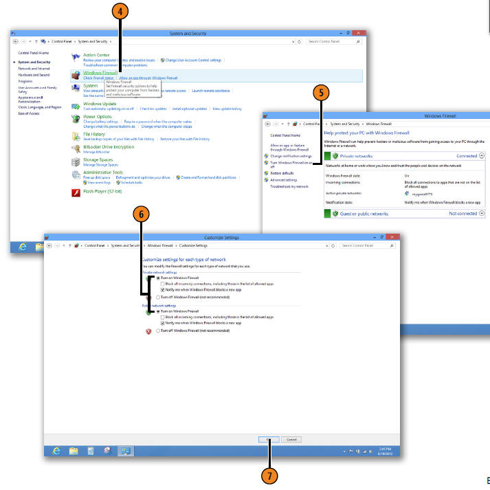 Click Turn Windows Firewall On Or Off WINDOWS 8