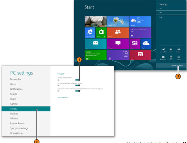 Allowing Apps to Access Your Computer WINDOWS 8