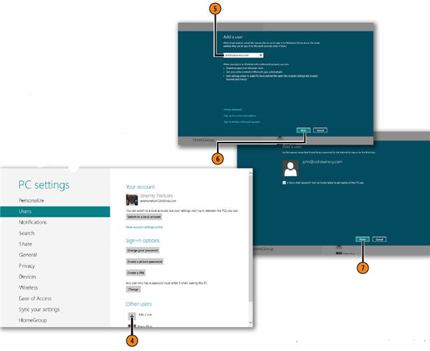 Setting Up User Accounts and Passwords WINDOWS 8