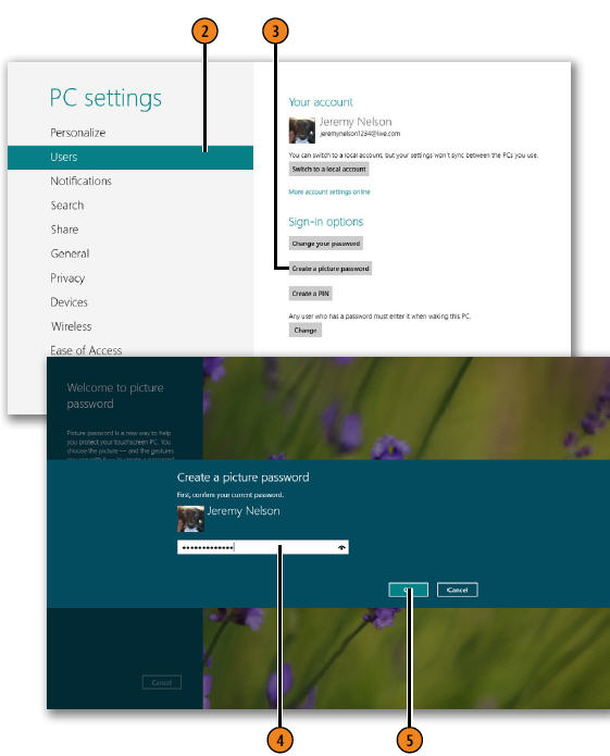 Creating a Password Picture WINDOWS 8